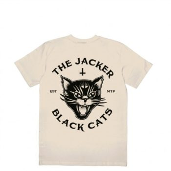 Tee Shirt Jacker Black Cats Beige